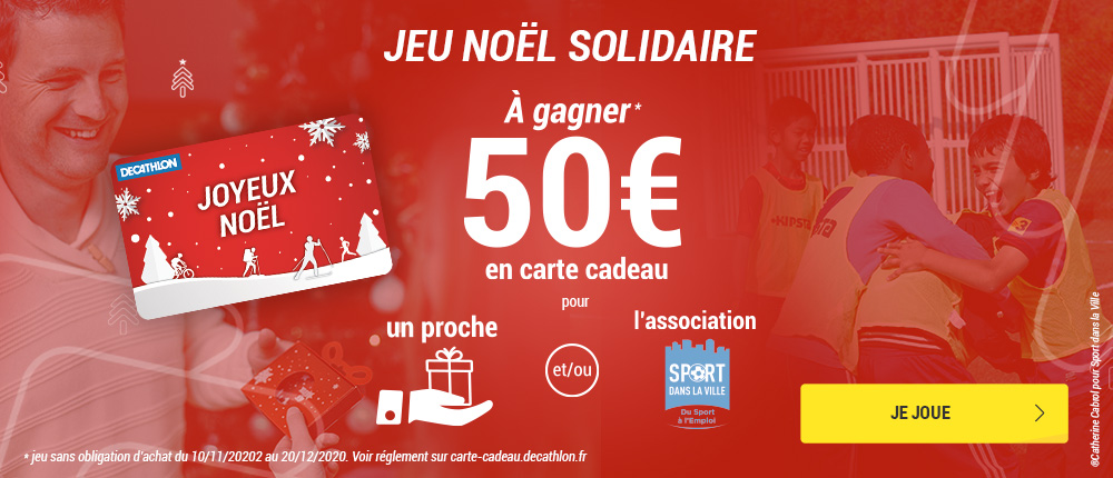 Image de Décathlon soutient les actions de Sport dans la Ville à travers une opération solidaire