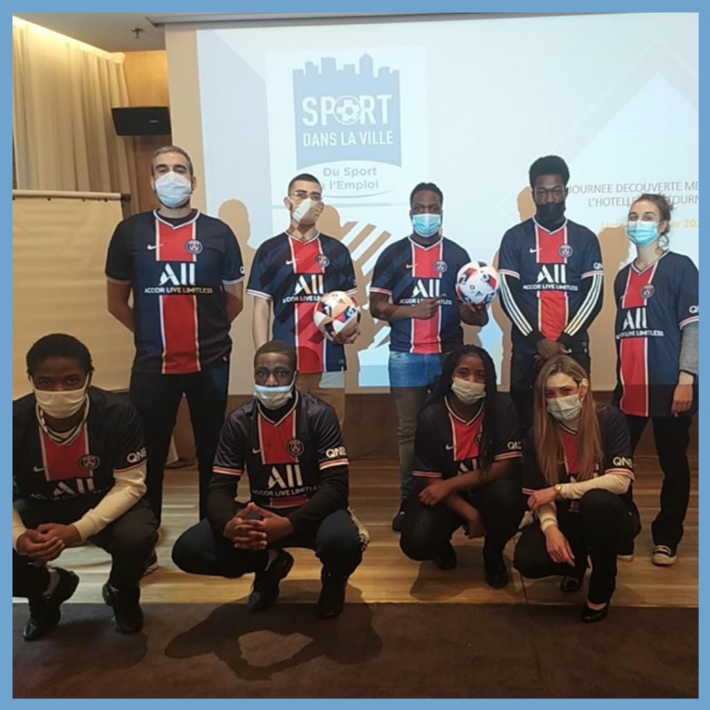 Image de 6 jeunes du programme « Passe Décisive » à la découverte des métiers de l'hôtellerie